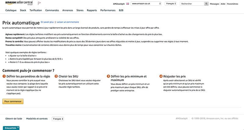 prix automatique amazon seller central repricer